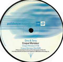"Dino & Terry - Croque Monsieur 12"" Guidance Recordings GDR077"