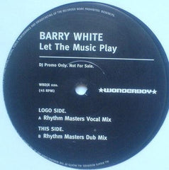 "Barry White - Let The Music Play 12"" Wonderboy WBDJX 020"