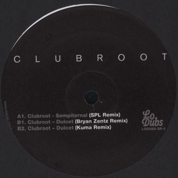 "Clubroot - Remixes Volume 1 12"" Lo Dubs Special Request LODUBS-SR-4"