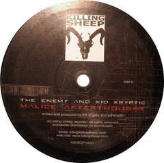 "DJ Hidden / The Enemy And Kid Kryptic - It Begins / Malice Afterthought 12"" Killing Sheep Records KSHEEPV001"