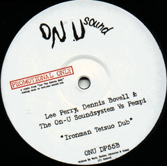 "Lee Perry, Dennis Bovell & The On-U Soundsystem Vs Pempi - Ironman 12"" On-U Sound ONU DP55"