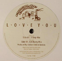"Golden Child - L.O.V.E Y.O.U 12"" Chocolate Factory Records CF006"