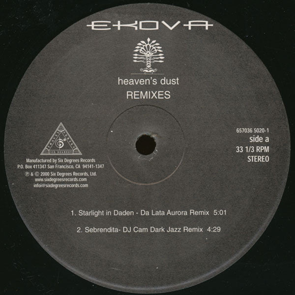 Ekova - Heaven's Dust (Remixes) - Six Degrees Records 65703650201
