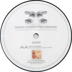 "Benny V & Dfrnt Lvls / Stevie Hyper D. - Aint No Stopping Us Now / Buffalo Soldier 12"" Dance Concept Recordings DC005"
