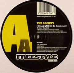 "The Society - Human Nature 12"" Freestyle Records FSR 029"