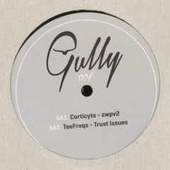 "Etch / Foamplate / Corticyte / Teefreqs ‎– Collision / Smokey Joe / Zwpv2 / Trust Issues 12"" Gully Records ‎– GULLY001"