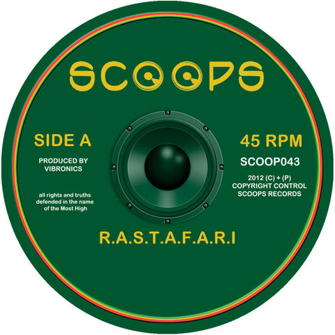 "Professa Natti / Sally Hossack / Ras Tweed / Vibronics ‎– R.a.s.t.a.f.a.r.i. / Mystic Air / I Am What I Am / Flc Dub 10"" Scoops ‎– SCOOP043"