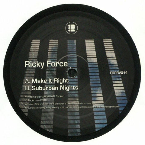 Ricky Force ‎– Make It Right / Suburban Nights - Repertoire ‎– REPRV014