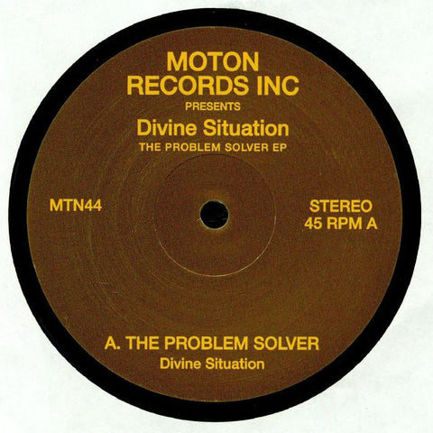 Divine Situation ‎– The Problem Solver EP - Moton Records Inc ‎– MTN44