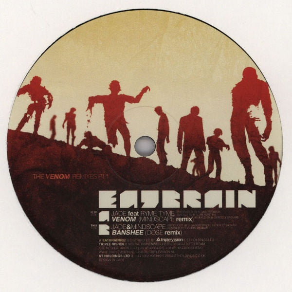 "Jade - Venom / Banshee (Remixes) 12"" Eat Brain EATBRAIN002"