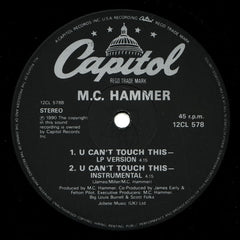 "MC Hammer - U Can't Touch This 12"" Capitol Records 12CL 578"