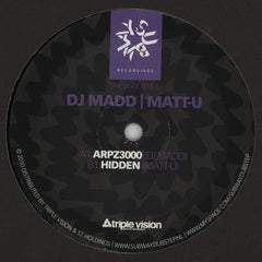 "DJ Madd / Matt U - ARPZ3000 / Hidden 12"" Subway SUBWAY 015.5"