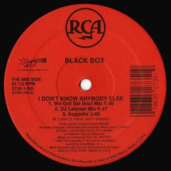 "Black Box - I Don't Know Anybody Else 12"" RCA, Deconstruction 2735-1-RD"