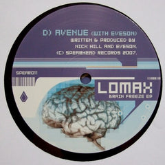 "Lomax - Brain Freeze EP 2x12"" Spearhead Records SPEAR 011"