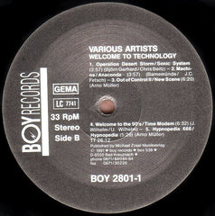 "Various - Welcome To Technology 12"" BOY Records BOY 2801-1"