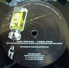 "Task Horizon Ft. MC Spyda & Rina - Da Vibe / Cobra Khan 12"" Evolution Chamber EVOC001"