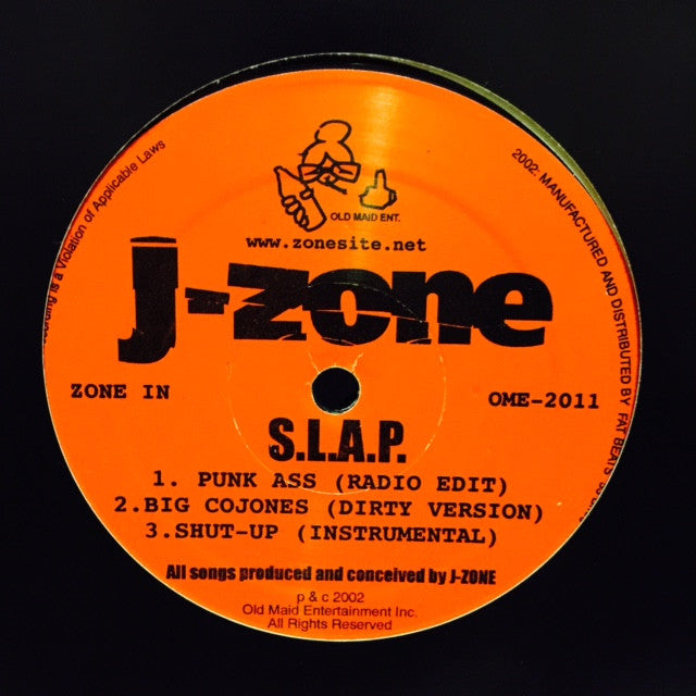 "J-Zone - SLAP 12"" OME2011 Old Maid Entertainment Inc"