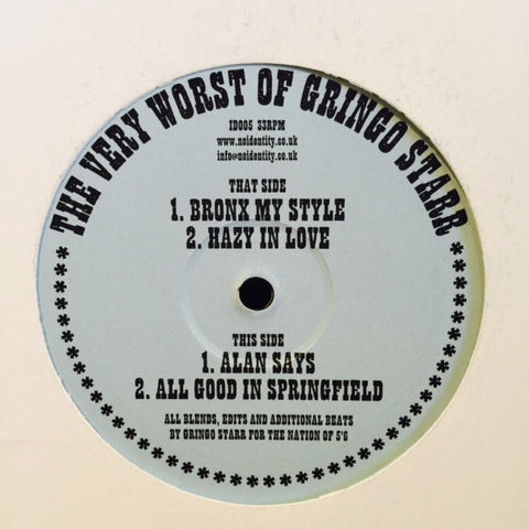 "Gringo Starr - The Very Worst Of Gringo Starr 12"" ID005 No Identity"