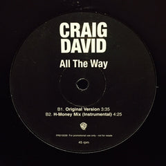 "Craig David - All The Way 12"" PR015539 Warner Bros Records"