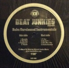 "Babu - Unreleased Instrumentals 12"" Beat Junkie Sound BJS-005"