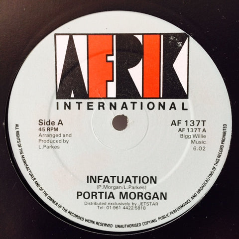 "Portia Morgan, WTP Band - Infatuation / Total Infatuation 12"" AF137T Afrik International"
