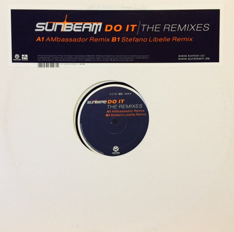 "Sunbeam - Do It The Remixes 12"" K176 Kontor Records"