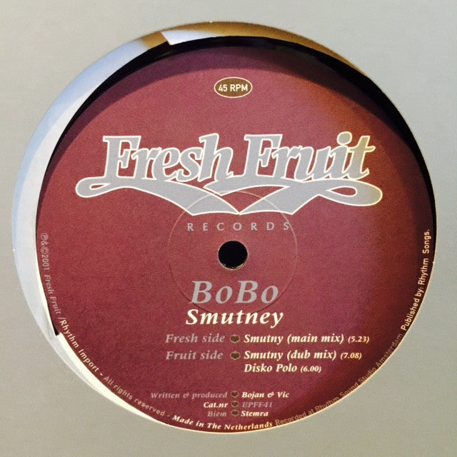 "BoBo - Smutney 12"" EPFF41 Fresh Fruit Records"