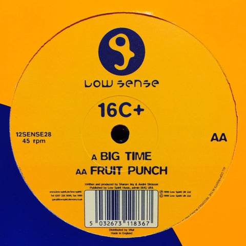 "16C+ - Big Time / Fruit Punch 12"" 12SENSE28 Low Sense"