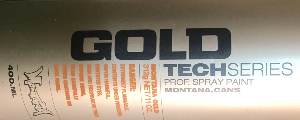 T2000 - Montana Cans Gold Acrylic Spray - Universal Plastic Primer 400ML