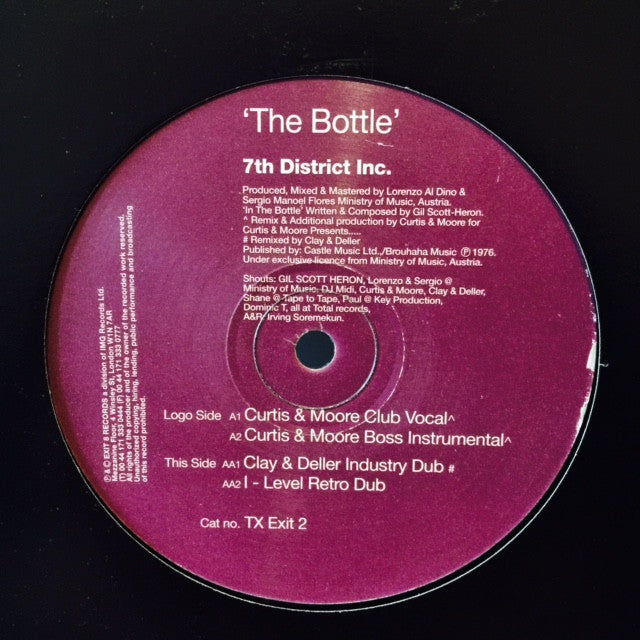 "7th District Inc - The Bottle 12"" TXEXIT2 Exit 8 Records"