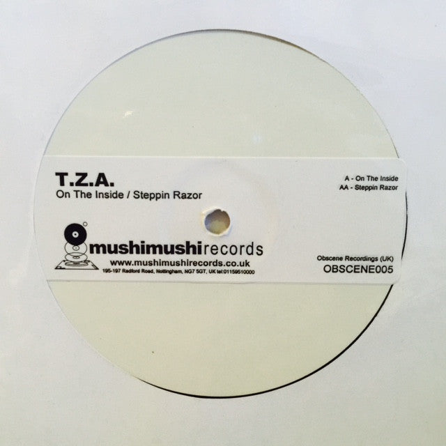 "TZA - On The Inside / Steppin Razor 12"" PROMO OBSCENE005 Obscene Recordings"