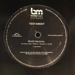 "Testament - World Harmony 12"" Body Music BMC-1004"