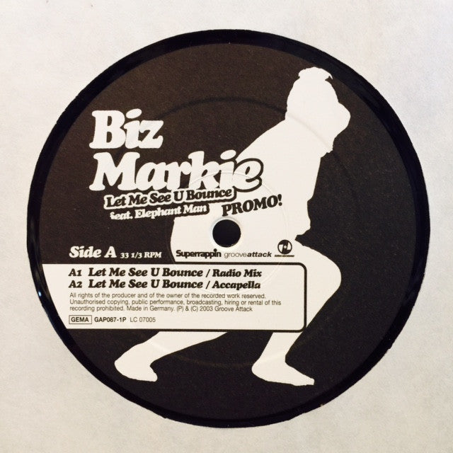 "Biz Markie - Let Me See U Bounce 12"" GAP0871P Groove Attack Productions"