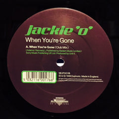 "Jackie O - When You're Gone / Breakfast At Tiffany's 12"" 12PHO15 Euphoric"