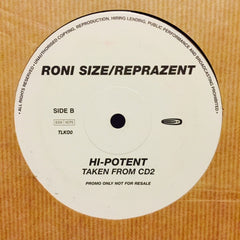 "Roni Size / Reprazent - Brown Paper Bag / Hi-Potent 12"" Talkin' Loud TLKOO"