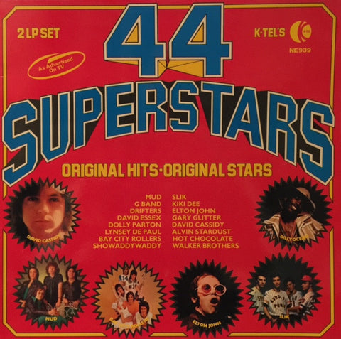 Various - 44 Superstars 2xLP, Comp K-Tel International, K-Tel NE 939, NE939