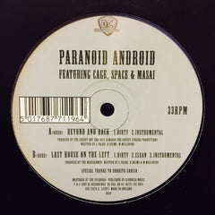 "Paranoid Android - Beyond And Back 12"" DC19 DC Recordings"