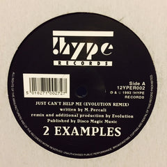 "2 Examples - Just Can't Help Me (Remix) 12"" 12YPER002 !Hype"