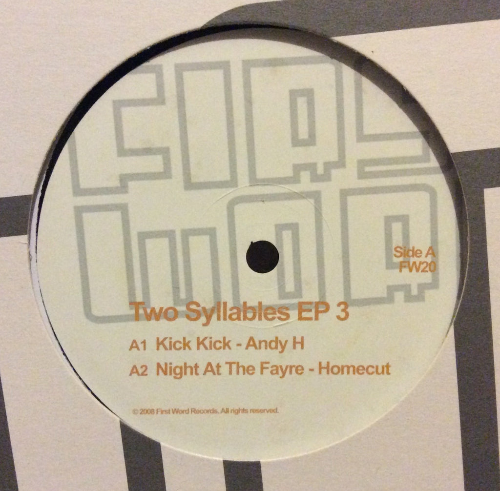 "Various - Two Syllables EP Vol 3 12"" First Word Records FW20"