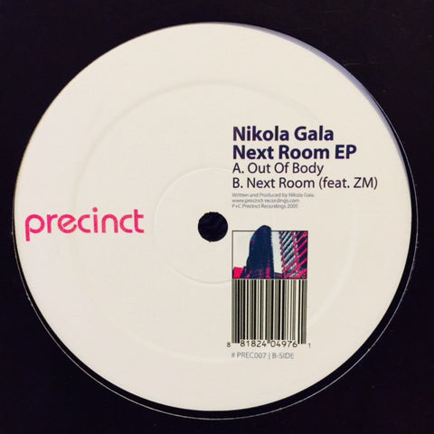 "Nikola Gala - Next Room EP 12"" PREC007 Precinct Recordings"