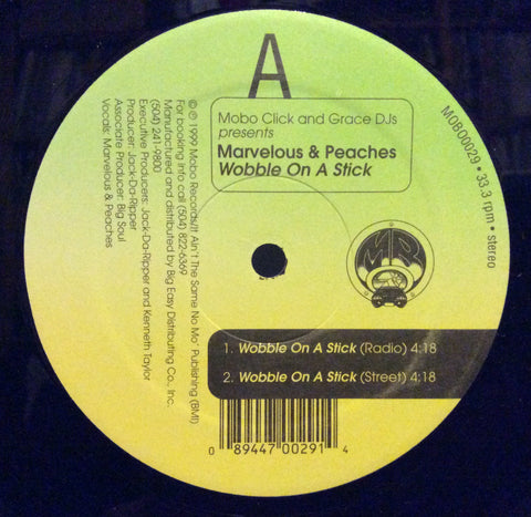 "Marvelous & Peaches - Wobble On Da' Stick 12"" Mobo Records MOBO0029"
