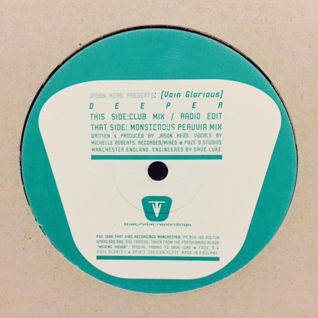 "Jason Herd - Deeper 12"" THATVIBE001 That/Vibe Recordings"
