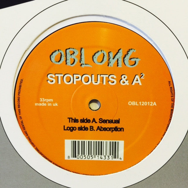 "Stopouts & A² - Sensual / Absorption 12"" Oblong Records OBL12012"