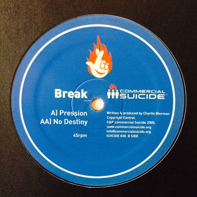 "Break - Pression / No Destiny 12"" SUICIDE030 Commercial Suicide"