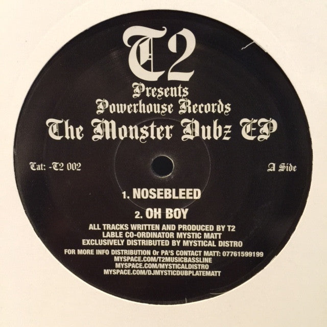 "T2 - The Monster Dubz EP 12"" Powerhouse Records - T2 002"