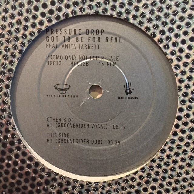 "Pressure Drop, Anita Jarrett - Got To Be For Real 12"" Higher Ground HG012"