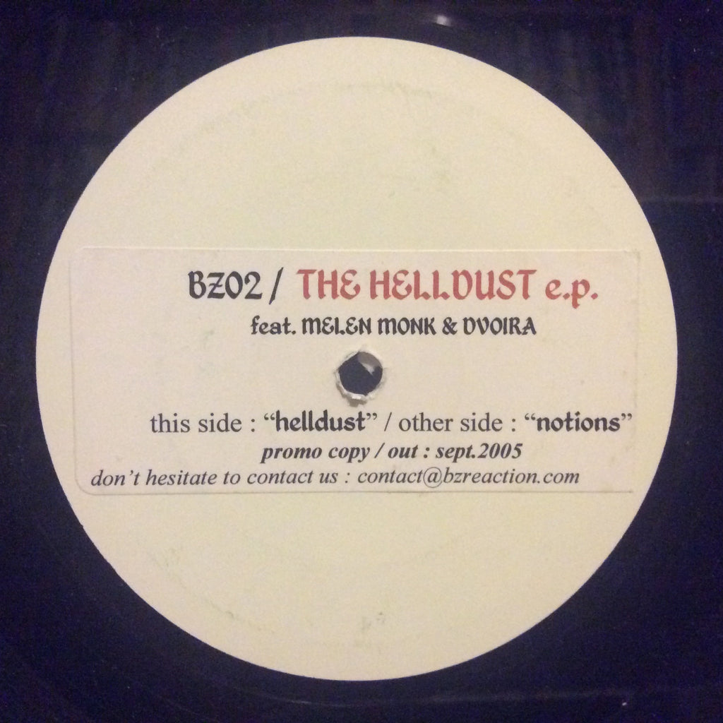 "Melen Monk & Dvoira - The Helldust EP 12"" White Label Promo BZ02"