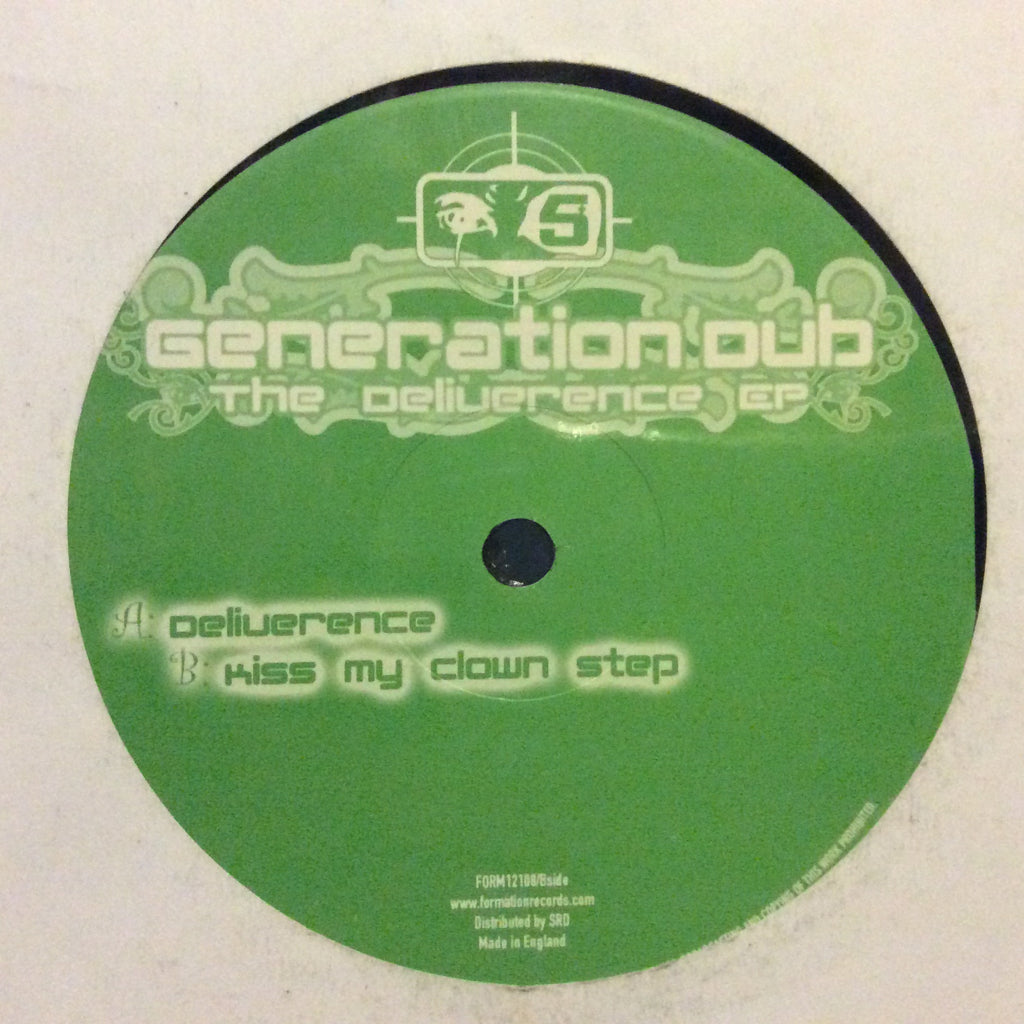 "Generation Dub - The Deliverence EP 12"" Formation Records FORM12108"