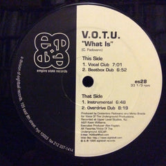 "V.O.T.U. - What Is 12"" Empire State Records ES 028"