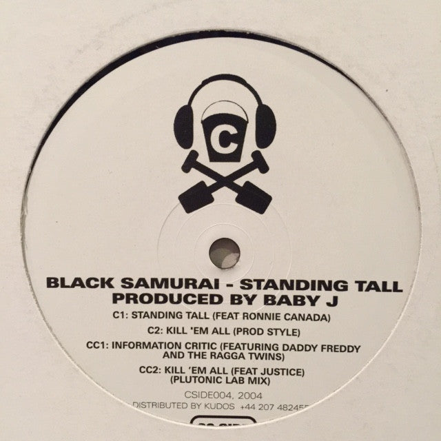 "Black Samurai ‎– Standing Tall 12"" C Side Trax ‎– CSIDE004"